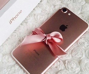 iphone, pink, and rose gold image