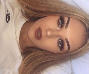 bed, eyeshadow, and in love image