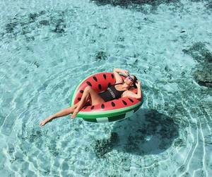 beach, float, and girk image