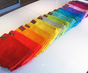 shorts, colors, and rainbow image