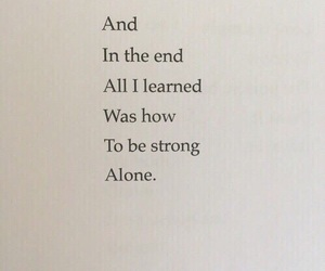 quotes, alone, and strong image