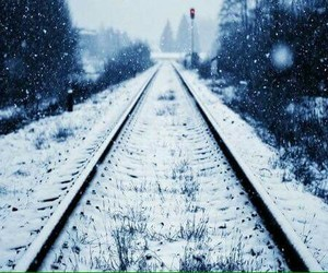 neige and train image