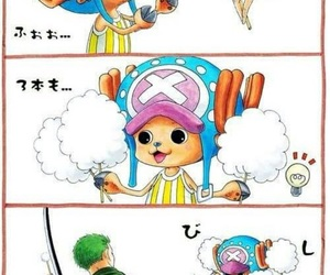 one piece, chopper, and zoro image