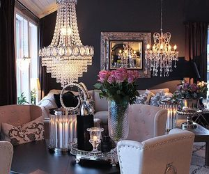 chic, flowers, and home image