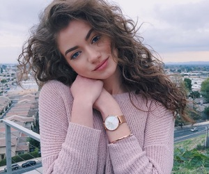 girl, beauty, and curly hair image