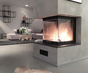 fireplace, grey, and home image