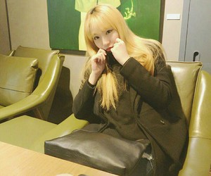 blonde, fashion, and korean girl image