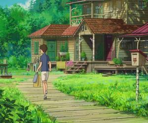 Hayao Miyazaki, house, and scenery image
