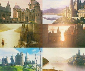 hogwarts, book, and harry potter image