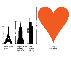 eiffel tower, empire state, and love image