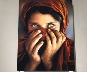 A girl, beautiful eyes, and art image