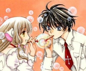 anime, bubble, and clamp image
