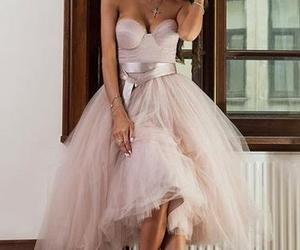 blush prom dress image