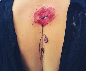 back, flower, and summer image