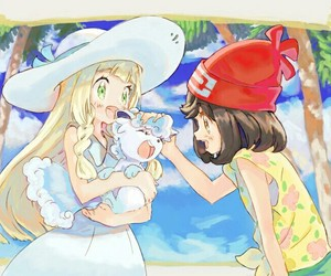 lillie, vulpix, and cute image