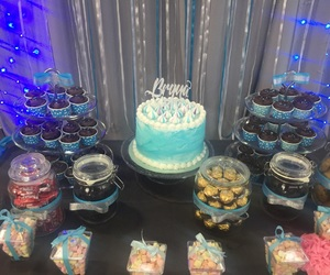 birthday, blue, and cakes image