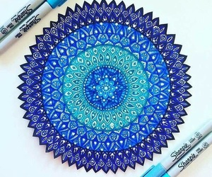 blue, art, and mandala image