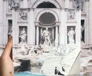 art, drawing, and fountain image
