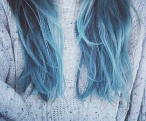 blue, blue hair, and ombre image