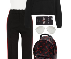 backpack, bodysuit, and gucci image