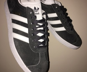 adidas, gazelle, and grey image