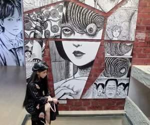 anime, walls, and art image