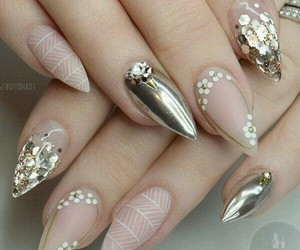 nails, cute, and goldennails image