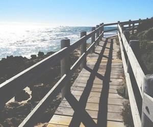 ocean, way, and sun image