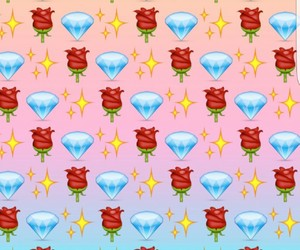 emoji, background, and diamond image