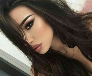 makeup, girl, and hair image