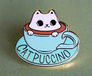 cat and pin image