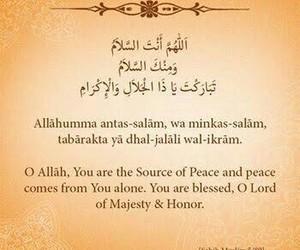peace, salah, and dua image