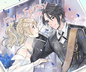 anime, couples, and final fantasy image