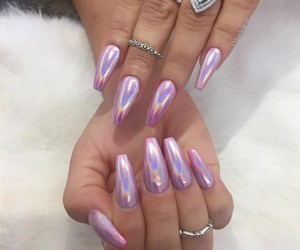 chrome, chrome nails, and nails image