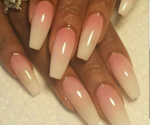 coffin, nails, and ombre image