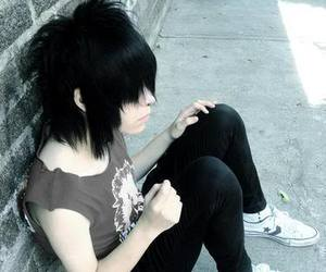 emo, hair, and girl image