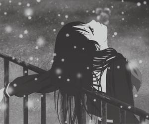 anime, snow, and manga image