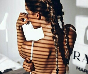 braids, hair, and tanned image