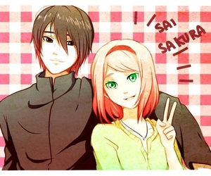 anime, couples, and sakura haruno image