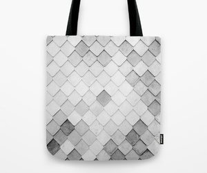 bag, black and white, and modern image