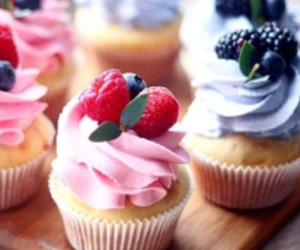 birthday cake, blueberry, and cheese cake image
