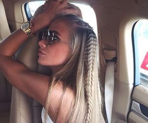 blonde, watch, and crimped hair image