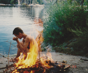 boy, fire, and water image