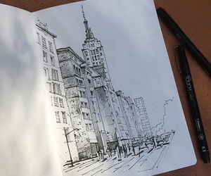 art, ink, and city image