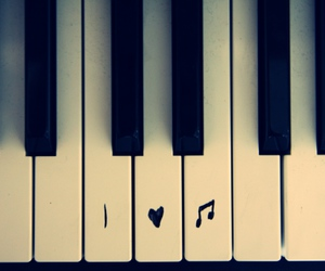 music, piano, and love image