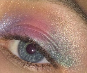 makeup, glitter, and grunge image