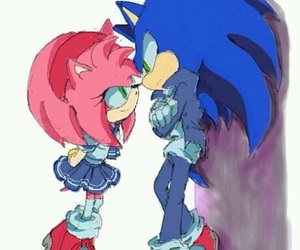Sonic the hedgehog, anime couple, and amy rose image