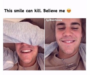 boy, justin, and laugh image