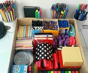 study, school, and pen image