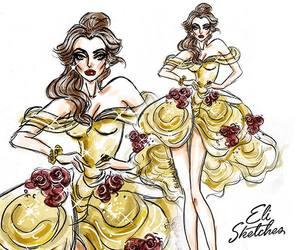 belle, disney, and disney princesses image
